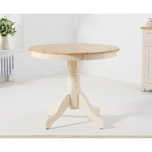 Mark Harris Furniture Mark Harris Elstree Cream And Oak Round Dining Table, Cream