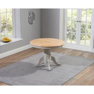 Mark Harris Furniture Mark Harris Elstree Oak And Grey 100cm Oval Extending Dining Table