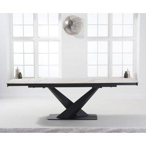Mark Harris Furniture Mark Harris Jack White Ceramic 180cm Extending Dining Table, White