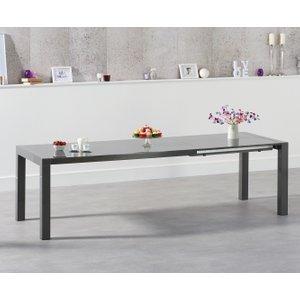 Mark Harris Furniture Mark Harris Jamie Dark Grey High Gloss Rectangular Extending Dining Table - 174cm-264cm