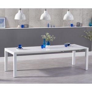 Mark Harris Furniture Mark Harris Jamie White High Gloss Rectangular Extending Dining Table - 174cm-264cm