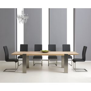 Mark Harris Furniture Mark Harris Knightsbridge Oak Extending Dining Table And 4 Malibu Black Chairs, Oak and Oak Veneer