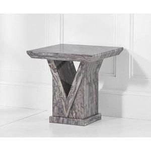 Mark Harris Furniture Mark Harris Minsk Grey Marble Lamp Table