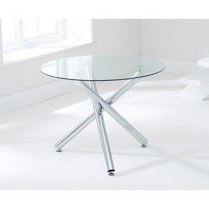 Mark Harris Furniture Mark Harris Odessa 100cm Glass Round Dining Table