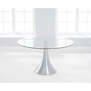 Mark Harris Furniture Mark Harris Petra Round Dining Table - Glass And Chrome