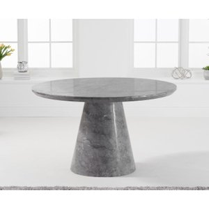 Mark Harris Furniture Mark Harris Ramiro Grey Marble Round Dining Table