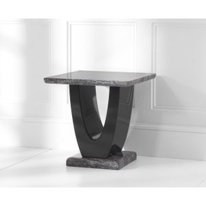 Mark Harris Furniture Mark Harris Rivilino Dark Grey Marble Lamp Table