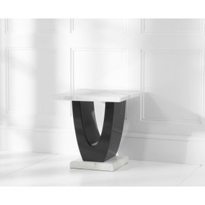Mark Harris Furniture Mark Harris Rivilino White Marble Lamp Table, White