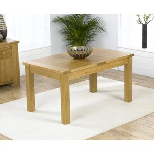 Mark Harris Furniture Mark Harris Rustique Oak Small Extending Dining Table, Lacquered