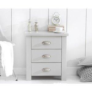 Mark Harris Furniture Mark Harris Sandringham Grey Painted Bedside Cabinet, Painted