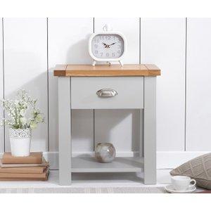 Mark Harris Furniture Mark Harris Sandringham Oak And Grey 1 Drawer Bedside Cabinet