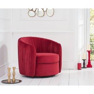 Mark Harris Furniture Mark Harris Sarana Russet Velvet Swivel Chair, Russet Velvet