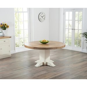 Mark Harris Furniture Mark Harris Turin Oak And Cream Round Dining Table, Painted and Lacquered