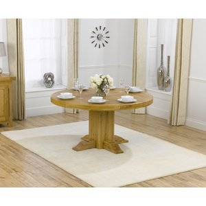 Mark Harris Furniture Mark Harris Turin Oak Round Dining Table, Waxed