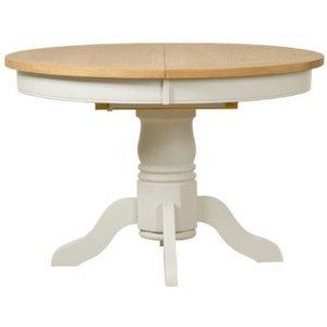 Mark Webster Designs Mark Webster Hemmingway Round Extending Dining Table - Oak And Off White Har021p, white