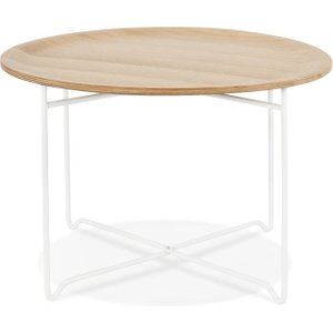 Scandi Matera Round Coffee Table - Natural And White
