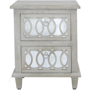 Deco Home Melville Mirrored Bedside Cabinet, Mirrored
