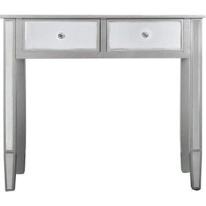 Deco Home Mergo Mirrored Silver Trim Console Table