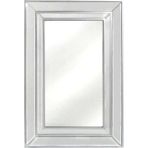 Deco Home Mergo Silver Trim Rectangular Wall Mirror - 60cm X 90cm, Silver