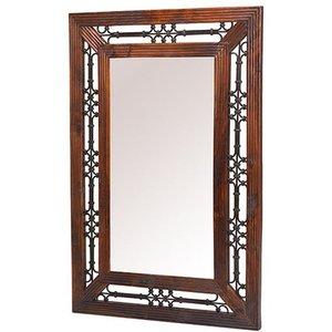 Hermitage Furniture Mica Sheesham Rectangular Mirror - 106cm X 72cm, Honey Brown Waxed Lacquered