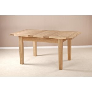 Fortune Woods Milano Oak Small Extending Dining Table, Natural Lacquered