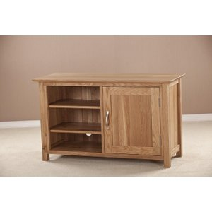 Fortune Woods Milano Oak Tv Unit, Natural Lacquered
