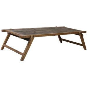 Light & Living Military Brown Wood Coffee Table