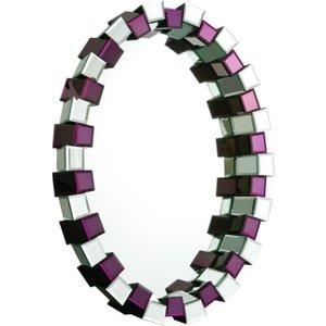 Premier Housewares Modena Purple Oval Mirror - 78cm X 106cm, Purple