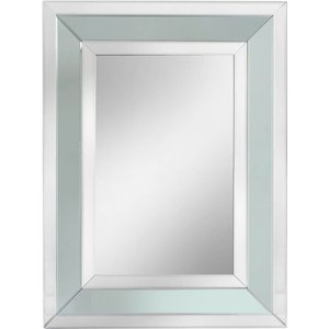 Deco Home Montague Grey Rectangular Wall Mirror - 102cm X 76cm, Grey