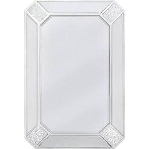 Deco Home Montego Sparkle Rectangular Wall Mirror - 60cm X 90cm, White