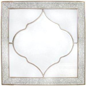 Deco Home Morocco Square Wall Mirror - 100cm X 100cm, Champagne