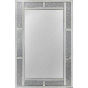 Deco Home Naro Crystal Brick Effect Wall Mirror - 80cm X 120cm, Mirrored