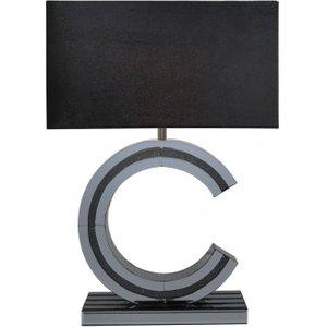 Deco Home Naro Smoked Mirrored C Large Table Lamp, Smoked Mirrored