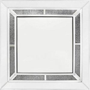 Deco Home Naro Square Wall Mirror - 90cm X 90cm, Mirrored