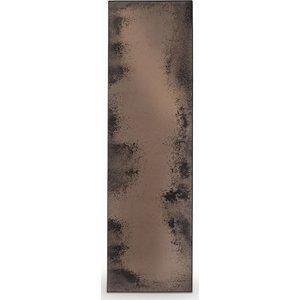 Ethnicraft Notre Monde Bronze Heavy Aged Metal Frame Long Rectangular Mirror - 71cm, Bronze