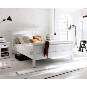 Nova Solo Halifax White Bed, White Semi-Gloss Paint with a Smooth Top Coat