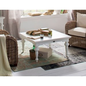 Nova Solo Provence White Square Coffee Table, White Semi-Gloss Paint with a Smooth Top Coat