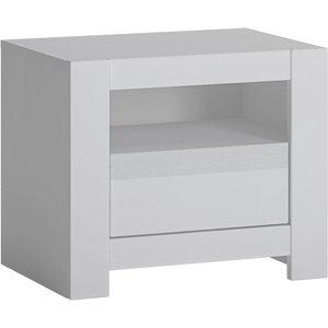 Furniture To Go Novi Alpine White Bedside Table, Alpine White