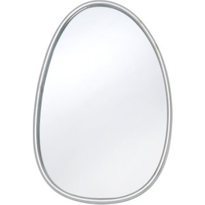 Deco Home Oneida Silver Painted Oval Wall Mirror - 35.6cm X 52.7cm, Silver Painted