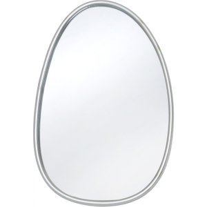 Deco Home Oneida Silver Painted Oval Wall Mirror - 46.4cm X 66cm, Silver Painted
