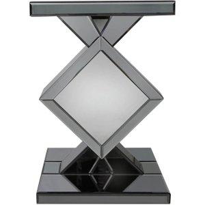 Deco Home Orbit Smoked Mirrored Led Diamond End Table (pair), Smoked Mirrored