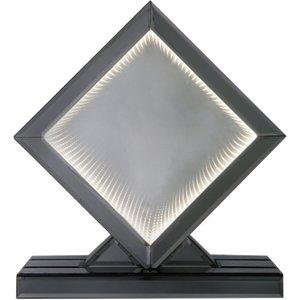 Deco Home Orbit Smoked Mirrored White Led Diamond Large Table Lamp, Smoked Mirrored