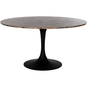 Richmond Interiors Orion Brown Marble Round Dining Table - 140cm