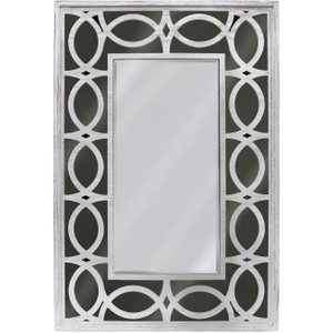 Deco Home Osimo Rectangular Wall Mirror - 80cm X 120cm Washed Ash And Smoked, Washed Ash and Smoked