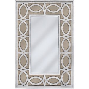 Deco Home Osimo Rectangular Wall Mirror - 80cm X 120cm Washed Ash And Champagne, Washed Ash and Champagne