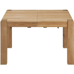 Classic Furniture Oslo Oak Small Extending Dining Table, Light Oak Stain and Satin Lacquered