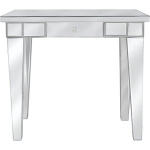 Deco Home Paolo Mirrored Console Table With Crystal Handle