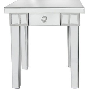 Deco Home Paolo Mirrored Small Lamp Table