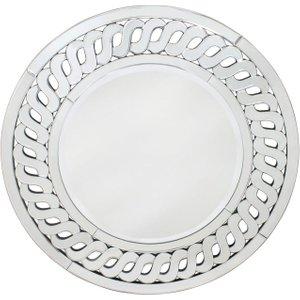 Deco Home Paul Round Wall Mirror - Dia 90cm, Mirrored