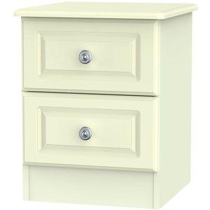 Welcome Furniture Pembroke Bedside Cabinet - 2 Drawer - Cream Pem005